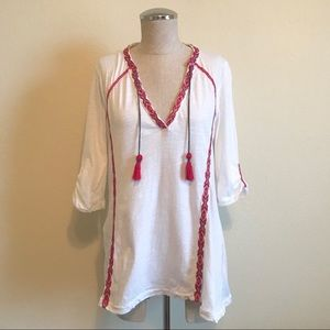 Anthropologie   Paper Locket Boho Embroidered Top